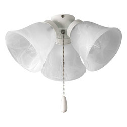 Progress Lighting - Progress Lighting Universal Three-Light Ceiling Fan - P2642-30 - Description: