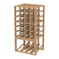EcoWineracks 4 Column Upper Display Rack, Natural Color, Clear Acrylic Finish - EcoWineracks are the worlds only traditional style wine racks made from non-forested and sustainable bamboo. Bamboo is superior to wood in strength and durability, is non-warping and has consistent grain.