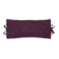 Westpoint Home Llc - Bianca Oblong Toss Pillow - The deep amethyst of this decorative oblong pillow adds a splash of beautiful color to the Suzani comforter. Tan embroidery and tie enclosures combine to create a delicate and sophisticated look that will truly elevate the style of your bedding ensemble.