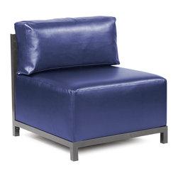 Howard Elliott - Howard Elliott Shimmer Sapphire Axis Chair Slipcover - Axis chair shimmer sapphire slipcover
