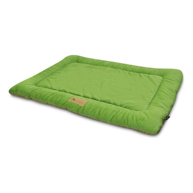 P.L.A.Y. - P.L.A.Y. Chill Pad Pistachio X Small - The P.L.A.Y. chill pad is a light and an extremely long lasting pad for your dog to sleep and rest on. The pad can be conveniently thrown at any spot in your home and being filled with an eco-friendly fiber, the pad is very safe for the environment, not to mention your dog. This chill pad is made keeping in mind the highest quality standards and it can be machine washed whenever needed.  Designed to fit most standard pet crates. Tough, durable construction ensures dog-years of use. Filled with the perfect amount and density of high-loft PlanetFill filler.  filler is made from 100% post-consumer certified-safe recycled plastic bottles. 4 edges ensure optimum elevated comfort for your pooch to rest its head on. Machine washable and dryer friendly. Made in a facility that meets the strict quality standards for infant and children products. Momo-approved and tested by her four-legged friends.