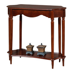 All Things Cedar - Console Table - Classic Accents: A truly inviting selection of Classic Accent Furniture FEATURING Console Sofa Tables Wooden Wine Magazine Racks, Nesting Tables, and Glass Cherry Curio Cabinates. Item is made to order.