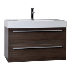 Modern Bathroom Vanities By ConceptBaths.com - Transform the look of your bathroom instantly! This contemporary bath vanity features a white man-made stone top with a square basin usually only seen in upscale boutique hotels and spas! Paired with an equally impressive large capacity storage cabinet loaded with premium amenities, the vanity offers design and value never before offered or seen in the mass market.