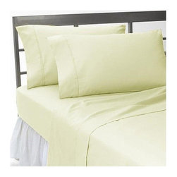 SCALA - 600TC 100% Egyptian Cotton Solid Ivory Queen Size Fitted Sheet - Redefine your everyday elegance with these luxuriously super soft Fitted Sheet. This is 100% Egyptian Cotton Superior quality Fitted Sheet that are truly worthy of a classy and elegant look.
