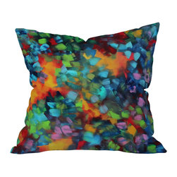 DENY Designs - Madart Inc Color Blast Outdoor Throw Pillow, 16x16x4 - Do you hear that noise? It's your outdoor area begging for a facelift and what better way to turn up the chic than with our outdoor throw pillow collection? Made from water and mildew proof woven polyester, our indoor/outdoor throw pillow is the perfect way to add some vibrance and character to your boring outdoor furniture while giving the rain a run for It's money.