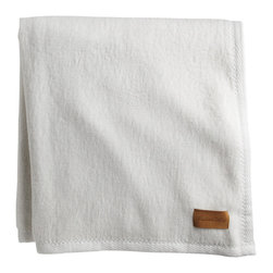 Peacock Alley - All Seasons Blanket, White, Throw - Planet-friendly has never been so plush! Woven of 100 percent Egyptian cotton with a textured binding, this all-natural blanket is completely free of dyes or bleaches.