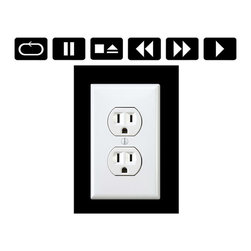 StickONmania - Outlet Music Player Sticker - A cool sticker for your wall outlet. Decorate your home with original vinyl decals made to order in our shop located in the USA. We only use the best equipment and materials to guarantee the everlasting quality of each vinyl sticker. Our original wall art design stickers are easy to apply on most flat surfaces, including slightly textured walls, windows, mirrors, or any smooth surface. Some wall decals may come in multiple pieces due to the size of the design, different sizes of most of our vinyl stickers are available, please message us for a quote. Interior wall decor stickers come with a MATTE finish that is easier to remove from painted surfaces but Exterior stickers for cars,  bathrooms and refrigerators come with a stickier GLOSSY finish that can also be used for exterior purposes. We DO NOT recommend using glossy finish stickers on walls. All of our Vinyl wall decals are removable but not re-positionable, simply peel and stick, no glue or chemicals needed. Our decals always come with instructions and if you order from Houzz we will always add a small thank you gift.