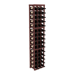 Wine Racks America - 3 Column Magnum/Champagne Wine Kit in Redwood, Cherry + Satin Finish - Easy to expand or add to an existing cellar, this Magnum wine racking kit is designed for ultimate flexibility. Our specialized magnum rack accommodates 2 whole cases of abnormally shaped bottles, and then some! We promise this rack will stand up to the test of time.