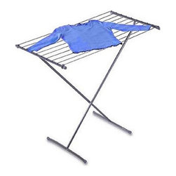 """Folding Drying Rack - I never know how to dry my clothes that say """"lay flat to dry."""" Here is a folding dryer rack that can handle those items, as well as the smaller delicates that can get lost among all of your heftier clothing."""