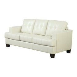 Coaster - Coaster Samuel Sleeper Sofa (Cream) - The Samuel Collection by Coaster Furniture. This collection offers style and comfort with its clean lines and attached seat cushions. The only way to truly appreciate this collection is to sit and experience it. Our Samuel sleeper is a great space saver and a stylish addition to any room.