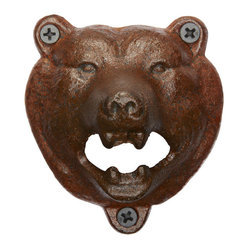 Bear Wall-Mount Bottle Opener