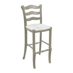 EuroLux Home - New Bar Stool White/Cream Painted Hardwood - Product Details