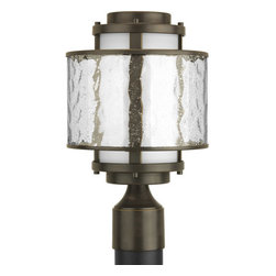 Thomasville Lighting - Thomasville Lighting P5499-20 Bay Court Outdoor 1 Light Post Light - Thomasville Lighting P5499-20 Single Light Bay Court Outdoor Post LightFeaturing rich Antique Bronze hardware showcasing Etched Opal glass layered with an icy halo of Clear Seedy Glass, there is no mistaking the beauty of this original fixture. A cutting edge design that exudes an icy cool brilliance, this pristine post light will add cutting edge style to your home.Thomasville Lighting P5499-20 Features: