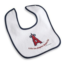 Mlb - Los Angeles Angels of Anaheim Baby Bib - This soft terry velour baby bib has a screen printed team logo on the front, and easily fastens with a snap button closure. One size fits all.