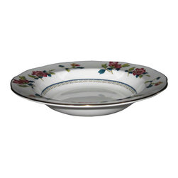Wedgwood - Wedgwood Chinese Flowers  Rimmed Soup Bowl - Wedgwood Chinese Flowers  Rimmed Soup Bowl
