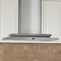 "36"" Pelos Series Island Stainless Steel Range Hood - 900 CFM - The perfect statement piece for your kitchen, the Pelos Series Range Hood provides style and function. Made of quality stainless steel, this exclusive range hood will be a lasting appliance in your kitchen."