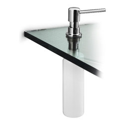 WS Bath Collections - WS Bath Collections Otel Soap Dispenser for Countertop - Swap out soap dispensers that clutter your counter for this smart alternative — discreetly hiding, but serving its purpose. It gives your bathroom a sleeker look and works like a charm.
