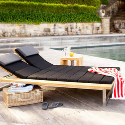 Outdoor Furniture Collection - Woolamai double daybed in black outdoor fabric