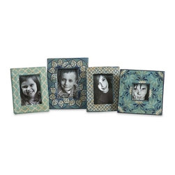 "IMAX CORPORATION - Kabir Hand Painted Frames - Set of 4 - Kabir Hand Painted Frames. Set of 4 frames in varying sizes measuring approximately 8""H x 6""-8""H x 6""-8""x 8""-10"" x 8"" each. Shop home furnishings, decor, and accessories from Posh Urban Furnishings. Beautiful, stylish furniture and decor that will brighten your home instantly. Shop modern, traditional, vintage, and world designs."