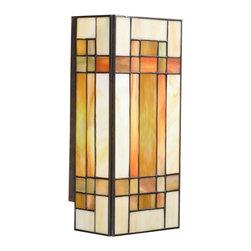 Kichler Lighting - Kichler Lighting 69004 Art Glass Patina Bronze Wall Sconce - Kichler Lighting 69004 Art Glass Patina Bronze Wall Sconce