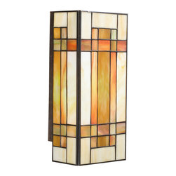 Kichler Lighting - Kichler Lighting 69004 Art Glass Patina Bronze Wall Sconce - Kichler Lighting 69004 Art Glass Patina Bronze Wall Sconce