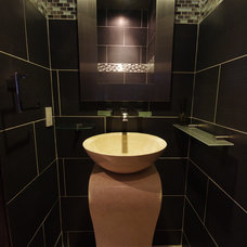 Contemporary Powder Room by Remodeling by Joseph