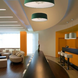 """Axo - Axo Velvet ceiling lamp - VEL100 (medium) - The medium Velvet ceiling lamp (UP VEL 100) was designed by Fly Design from Axo, and is part of the Lightecture series and made in Italy. The medium Velvet ceiling lamp is for indoor installation and is available as a wall, suspended and a floor fixture.  It's lamp shade is trunk-conical shaped and is made from flame-retardant Micro 2000 fabric covering (polyester and cotton) with a suede effect and is available in a variety of color options.   Products description: The medium Velvet ceiling lamp (UP VEL 100) was designed by Fly Design from Axo, and is part of the Lightecture series and made in Italy. The medium Velvet ceiling lamp is for indoor installation and is available as a wall, suspended and a floor fixture.  It's lamp shade is trunk-conical shaped and is made from flame-retardant Micro 2000 fabric covering (polyester and cotton) with a suede effect and is available in a variety of color options.  *This is a custom product that ships in 12-14 weeks.  Please contact us for pricing to expedite shipping to 6-8 weeks. Details:                         Manufacturer:                         Axo                                         Designer:                         Fly Design                                         Made  in:            Italy                            Dimensions:                         Height: 12.3"""" (31cm) X Width: 39.4"""" (100cm)                                                     Light bulb:                                      3 X 75W E26 Incandecent or              3 X 23W E26 Flourescent or             4 X 24W 2G11                                          Material                         Metal, fabric"""