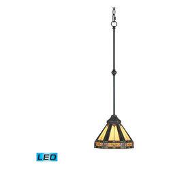 ELK Lighting - ELK Lighting 629-AB-LED Filigree Aged Bronze Mini Pendant - ELK Lighting 629-AB-LED Filigree Aged Bronze Mini Pendant