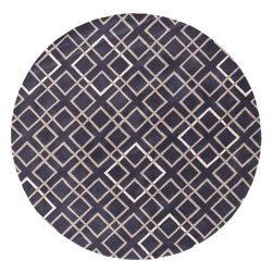 Surya - Surya Artist Studio ART-237 (Navy Taupe) 8' Round Rug - True to its name, Artist Studio is an assortment of the best from the leading designers around the world. A palette of deep, rich colors paired wilh hand-tufted details of high/low pile make this collection exceptionally textured and multi-dimensional. All rugs in this collection are hand-tufted of 100% New Zealand.