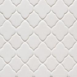Vibe Morrocan Mosiac Field in White Matte - Ceramic and Terracotta
