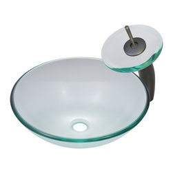 MR Direct MR Direct 601 Crystal Glass Sink Oil Rubbed