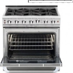 """Capital - Culinarian Series COB362G2-L 36"""" Freestanding Dual Fuel Electric Self-Cleaning R - The Culinarian line features the best in Open Burner technology the functionality of a commercial oven easy to clean open top burners and heavy-duty top grates The COB362G2-L 36 dual fuel electric range features4 open burners 46 cu ft oven capacity C..."""