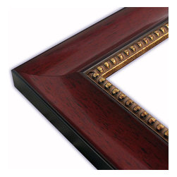 The Frame Guys - Scoop Mahogany with Gold Bead Picture Frame-Solid Wood, 10x10 - *Scoop Mahogany with Gold Bead Picture Frame-Solid Wood, 10x10