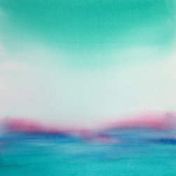 "Turquoise Seascape http://www.etsy.com/shop/lauratrevey - ""Turquoise Seascape"" is an Abstract Original Painting by Laura Trevey. Splashes of seafoam green, turquoise and aqua, with a pop of pink!"