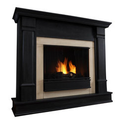 Real Flame - Real Flame Silverton Indoor Gel Fireplace in Black Finish - Real Flame - Fireplaces - Curl up by the comforting glow of this real flame fireplace anywhere in your home. Ideal for living rooms, family rooms or bedrooms, the free-standing silverton offers clean lines and transitional styling that will add instant ambiance to any home. Available in white, dark mahogany and black. Uses 13 oz. cans of real flame gel fuel.