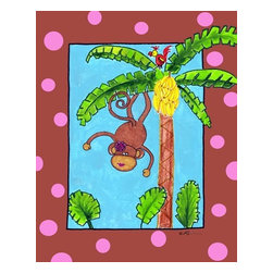 Oh How Cute Kids by Serena Bowman - Monkey Do, Ready To Hang Canvas Kid's Wall Decor, 8 X 10 - Every kid is unique and special in their own way so why shouldn't their wall decor be so as well! With our extensive selection of canvas wall art for kids, from princesses to spaceships and cowboys to travel girls, we'll help you find that perfect piece for your special one.  Or fill the entire room with our imaginative art, every canvas is part of a coordinating series, an easy way to provide a complete and unified look for any room.