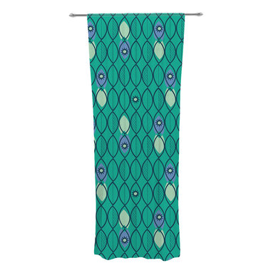 "Kess InHouse - Allison Beilke ""Suncoast Emerald"" Decorative Sheer Curtain - Let the light in with these sheer artistic curtains. Showcase your style with thousands of pieces of art to choose from. Spruce up your living room, bedroom, dining room, or even use as a room divider. These polyester sheer curtains are 30"" x 84"" and sold individually for mixing & matching of styles. Brighten your indoor decor with these transparent accent curtains."