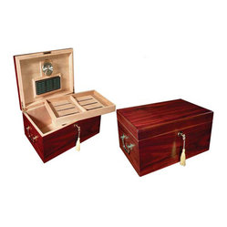 120 Count Cherry Humidor with Tray Lock & Handles