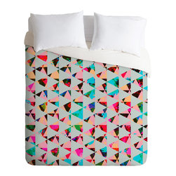 DENY Designs - DENY Designs Caleb Troy Indie Mute Duvet Cover - Lightweight - Turn your basic, boring down comforter into the super stylish focal point of your bedroom. Our Lightweight Duvet is made from an ultra soft, lightweight woven polyester, ivory-colored top with a 100% polyester, ivory-colored bottom. They include a hidden zipper with interior corner ties to secure your comforter. It is comfy, fade-resistant, machine washable and custom printed for each and every customer. If you're looking for a heavier duvet option, be sure to check out our Luxe Duvets!