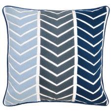 One Kings Lane - The Starter Space - Yohji 22x22 Cotton Pillow, Blue