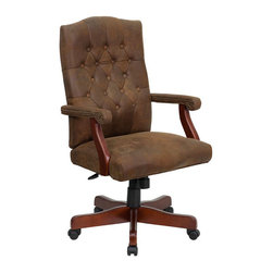 Flash Furniture - Bomber Brown Classic Executive Office Chair - Bomber Brown Classic Executive Office Chair