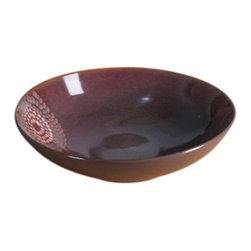 Red Vanilla - Red Vanilla Vanilla Organic Blue 13 in. Serving Bowl - HLG200-259 - Shop for Bowls and Candy Dishes from Hayneedle.com! You already know that you'll make a statement with your food so why quit there when you can say something with the Red Vanilla Vanilla Organic Blue 13 in. Serving Bowl? This stoneware bowl is finished in rich blues browns and yellows to create an organic appeal that's going to be welcome at any table. Not only attractive this wide bowl is also safe for use in a dishwasher microwave or warm oven.