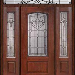 """Prehung Side lights-Transom Door 80 Fiberglass Palacio Arch Lite - SKU#MCR06195_DFAP1-2RUBrandGlassCraftDoor TypeExteriorManufacturer CollectionArch Lite Entry DoorsDoor ModelPalacioDoor MaterialFiberglassWoodgrainVeneerPrice4685Door Size Options32"""" + 2( 14"""")[5'-0""""]  $036"""" + 2( 14"""")[5'-4""""]  $036"""" + 2( 12"""")[5'-0""""]  $0Core TypeDoor StyleDoor Lite StyleArch LiteDoor Panel Style1 PanelHome Style MatchingDoor ConstructionPrehanging OptionsPrehungPrehung ConfigurationDoor with Two Sidelites and Rectangular TransomDoor Thickness (Inches)1.75Glass Thickness (Inches)Glass TypeDouble GlazedGlass CamingBlackGlass FeaturesTempered glassGlass StyleGlass TextureGlass ObscurityDoor FeaturesDoor ApprovalsEnergy Star , TCEQ , Wind-load Rated , AMD , NFRC-IG , IRC , NFRC-Safety GlassDoor FinishesDoor AccessoriesWeight (lbs)663Crating Size36"""" (w)x 108"""" (l)x 89"""" (h)Lead TimeSlab Doors: 7 Business DaysPrehung:14 Business DaysPrefinished, PreHung:21 Business DaysWarrantyFive (5) years limited warranty for the Fiberglass FinishThree (3) years limited warranty for MasterGrain Door Panel"""