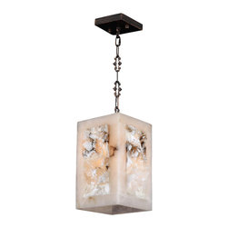 Worldwide Lighting - W83821F6 Pompeii Mini-Pendant Square 6 In. - 1 Natural Quartz Light in Flemish B - This 1-light Pompeii Collection mini-pendant square in Flemish Brass finish and Natural Quartz is a stunning addition to your home and is dressed with our 30% PbO Premier Crystal glass. Worldwide Lighting Corporation is a premier designer manufacturer and direct importer of fine quality chandeliers, surface mounts, and sconces for your home at a reasonable price. You will find unmatched quality and artistry in every luminaire we manufacture.