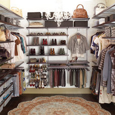 Contemporary Closet The containerstore- Walk-In closet idea