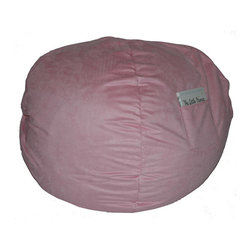 "Fun Furnishings - Fun Furnishings Micro Suede Small Bean Bag in Pink - Brown micro Suede-teen chair by fun furnishings. Teen chair. This comfortable versatile sleeper chair is a big hit with teens and young teens. It is a sturdy yet light weight chair for their rooms and jus the thing for friends spending the night. Flip out the chair to make an instant sleeper 64"" inches long. Put two or more chairs together side by side to make a sectional. The possibilities are endless! it should be noted that while this chair is large enough to seat many older teens the fold out bed is 64 inches ( 5' 4"" ) long. Built-in durability. We've worked hard to make our furniture durable and help it retain its appearance. We use high-density foam to make the furniture hold up to the tough use it receives from kids. We include a layer of fiber on the seating surfaces to keep the fabric tight much longer."