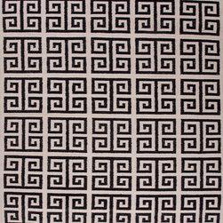 Geometric Rug Greek Key Black & White -