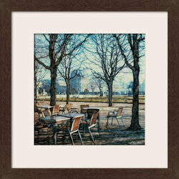 Home Decorators Collection - Tuileries Framed Wall Art - From the beautiful buildings in the background to the elegant trees in the foreground, the Tuileries Wall Art is a stylish choice for your home decor. Elements of old and new blend together to render the elegance and romance of everyday life in this wall decor. Update any area and buy now.Made in the U.S. with either a matted antique walnut frame with gold lip or an espresso cube floated frame with linen liner.Designed by artist Ernesto Rodriguez, grandson of renowned Cuban muralist Eraso Valor Rodriguez.Limited edition is signed and numbered.
