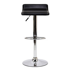 Modway - Modway Gloria Bar Stools - Set of 2 - EEI-937-BLK - Shop for Stools from Hayneedle.com! Glorify your bar into a bastion of modern design like the Modway Gloria Bar Stools - set of 2. This set includes two bar stools with polished chromed steel pedestal bases. Supple leatherette seats in your choice of available colors mean these chairs will match your style. Adjustable height and 360-degree swivel functions allow for the ultimate in comfort. Assembly required.About ModwayModway designs and manufactures modern classic furniture pieces for the contemporary home. The quality pieces are fresh and elegant with a distinctively updated appeal. Simple clean lines and a vibrant selection of colors and finishes make these pieces perfect for the home or office. A wide selection of products include pieces for the living room dining room bar office and outdoors. High-quality and innovative designs make Modway the premier company for luxurious modern style.