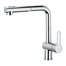 WS Bath Collections - WS Bath Collections Ringo Kitchen Sink Mixer - Kitchen Sink Mixer with Pull-Out Spray in Polished Chrome